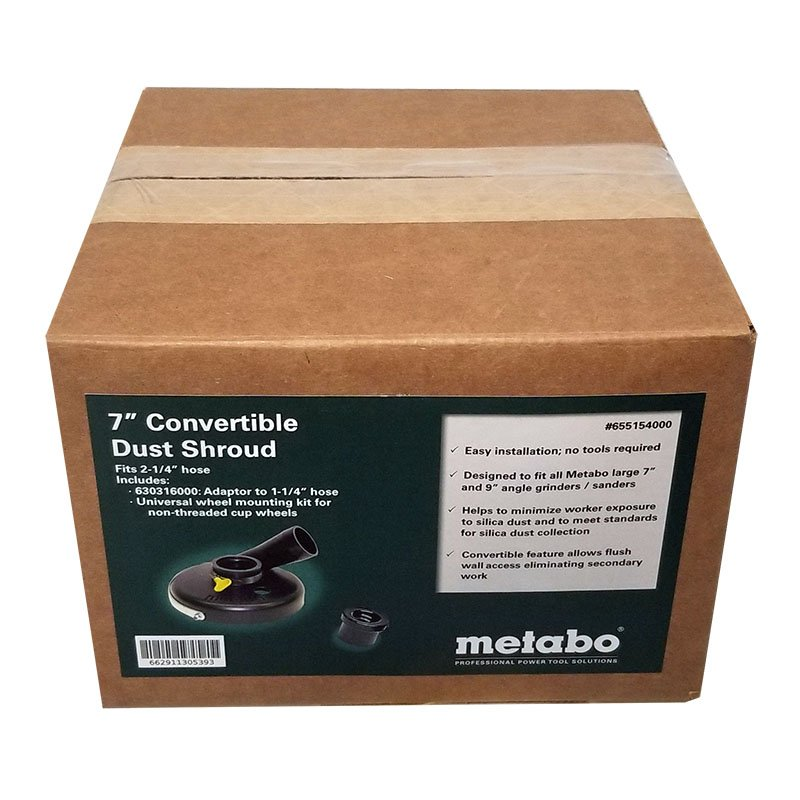 7 Inch Metabo dust shroud for hand grinding