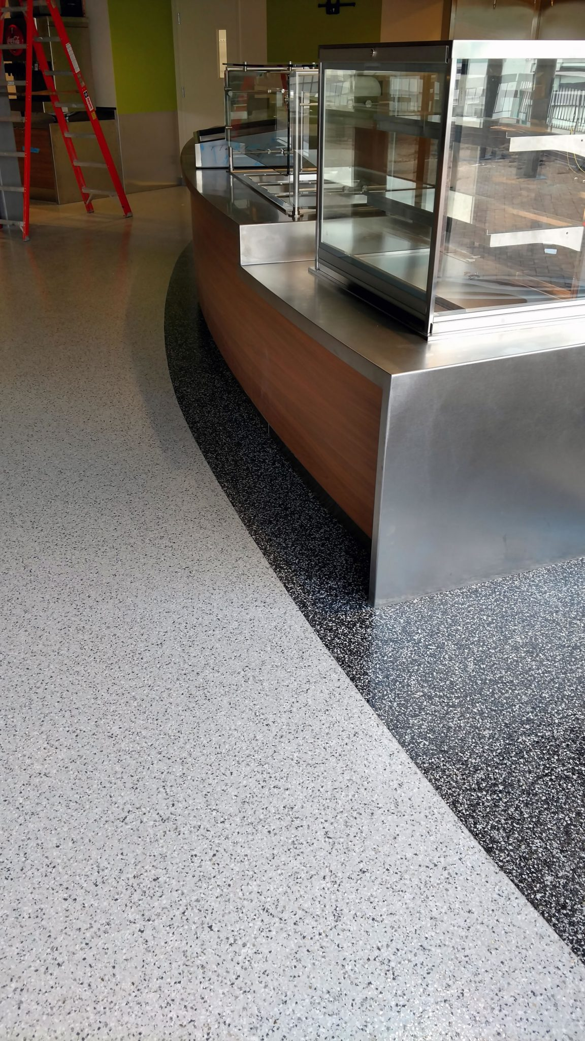 Industrial Vinyl Chip Floor Coating System V8 Floor Coating