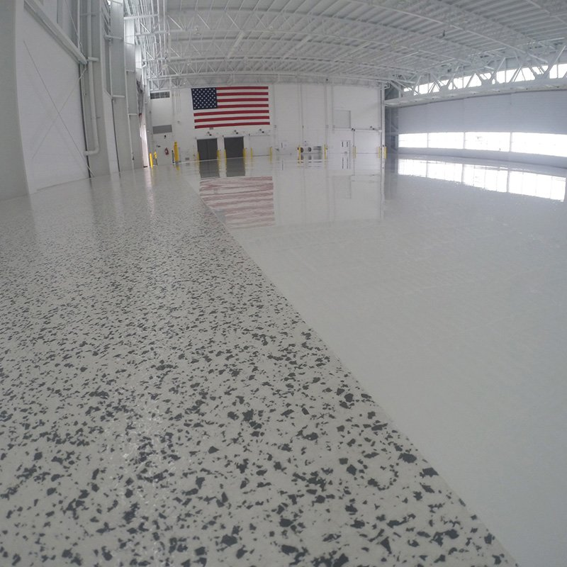 Vinyl Chip and Solid Color Hangar Coating