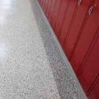Seamless Vinyl Chip Floor Coating - Educational