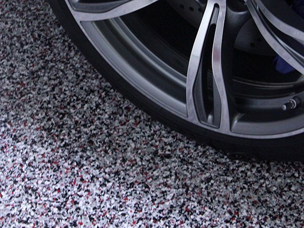 One Day Vinyl Chip Garage Floor Coating
