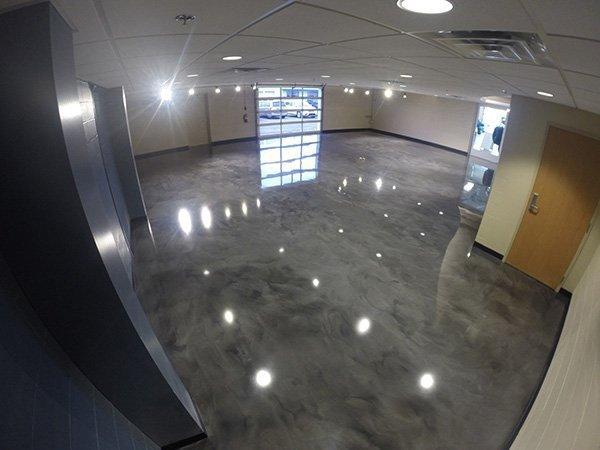Platinum Floor Coating System - Car Dealership Showroom