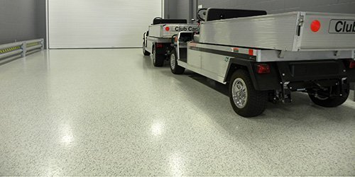 V-8 Industrial Floor Coating Application - Vinyl Chip