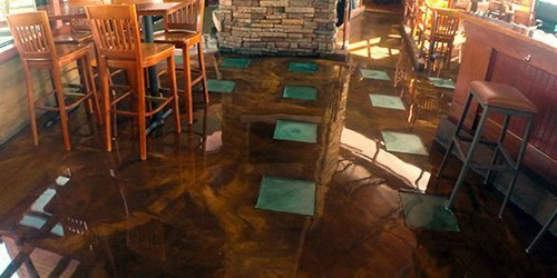 V-8 Platinum Floor Coating Application - Restaurant