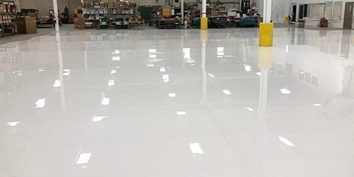 V-8 Non Yellowing White Floor Coating Installations