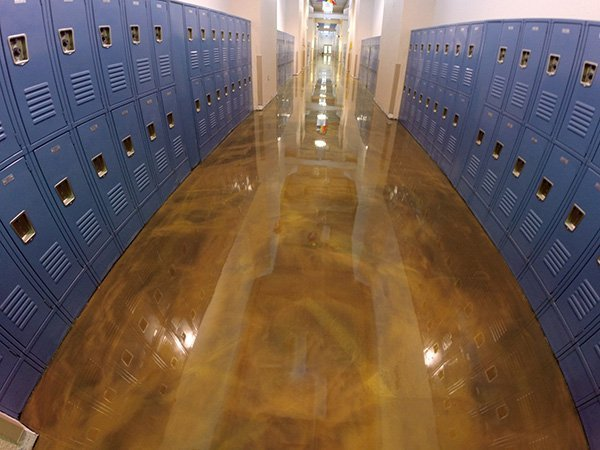 Seamless Decorative School Floor Coating