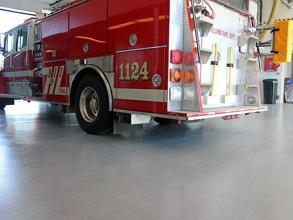 Quartz Fire Station Floor Coating