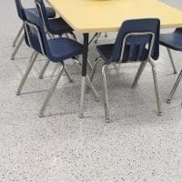 One Day Floor Coating Installation - Classroom