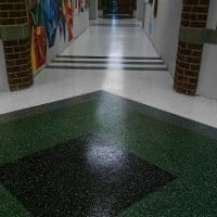 Seamless School Hallway Floor Coating
