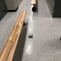Easy to Clean Locker Room Flooring