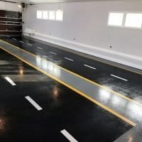 V-8 One of a Kind Garage Flooring