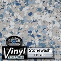 Stonewash FB-708 Vinyl Chip Blend