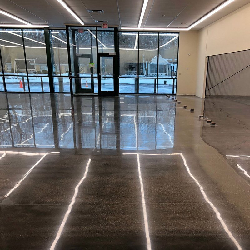 X-Shine Polished Concrete Retail Space
