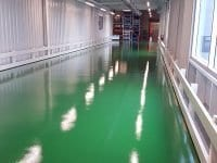 Forest Green Custom Color Floor Coating