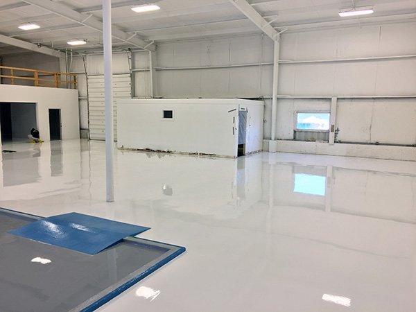 White Industrial Floor Coating