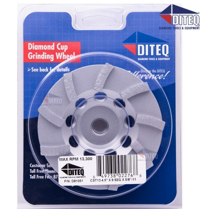 4.5 Inch Turbo Cup Wheel Diamond Grinding