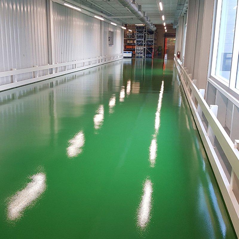 Hallway Epoxy Flooring