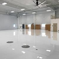 White Airplane Hangar Flooring