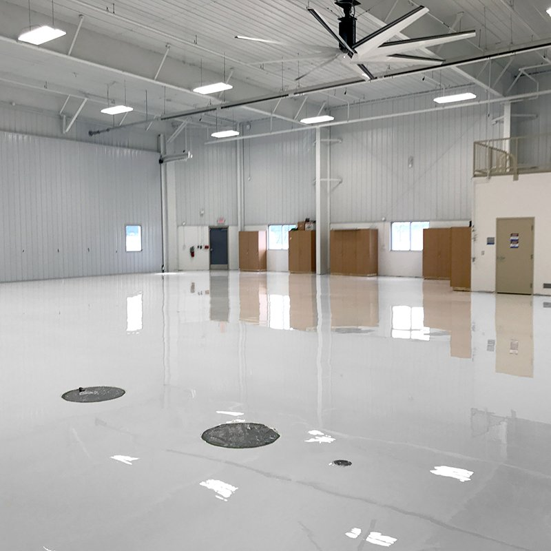 White Airplane Hangar Flooring
