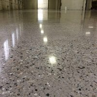 Medium Stone Exposure Polished Concrete