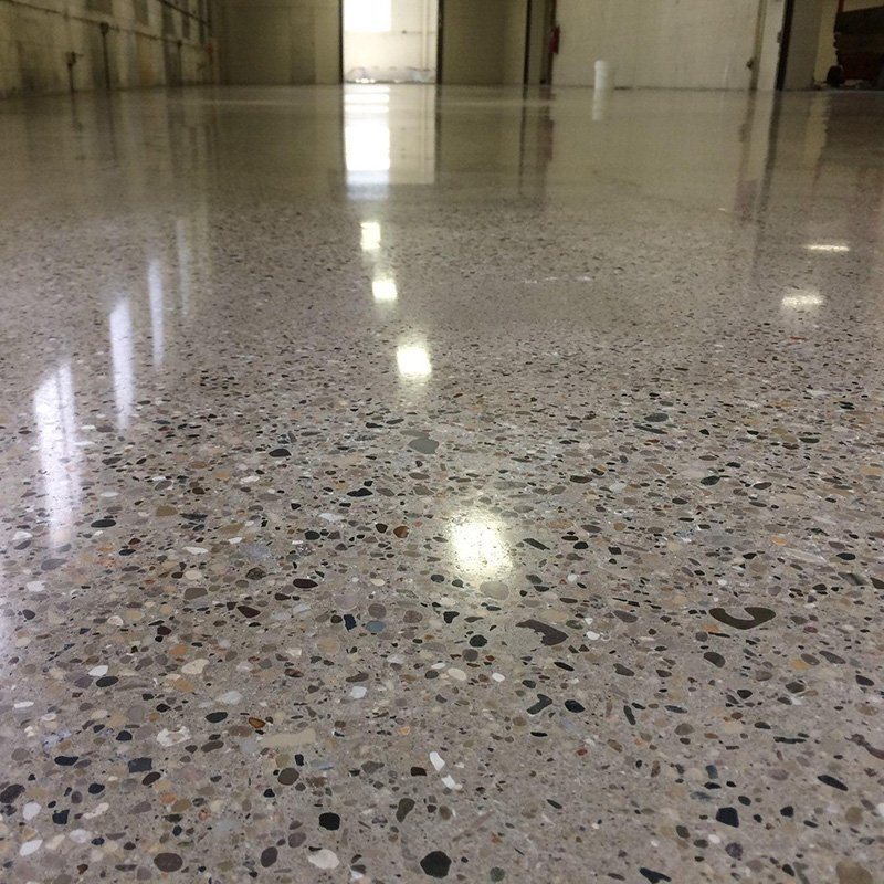 Medium Stone Exposure Polished Concrete