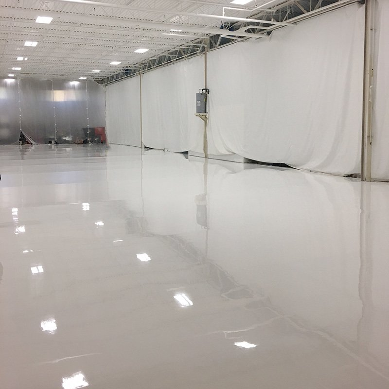 White Polyaspartic Polyurea Flooring