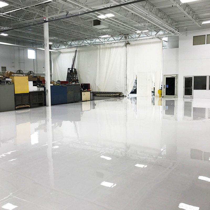White Manufacturing Flooring