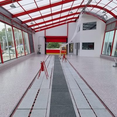 Commercial Car Wash Franchise Floor Coating