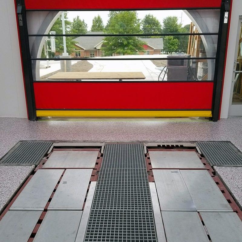 Seamless Floor Coating - Garage Door