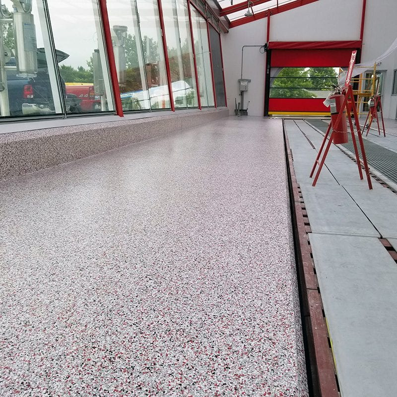 Seamless Commercial Car Wash Floor Coating