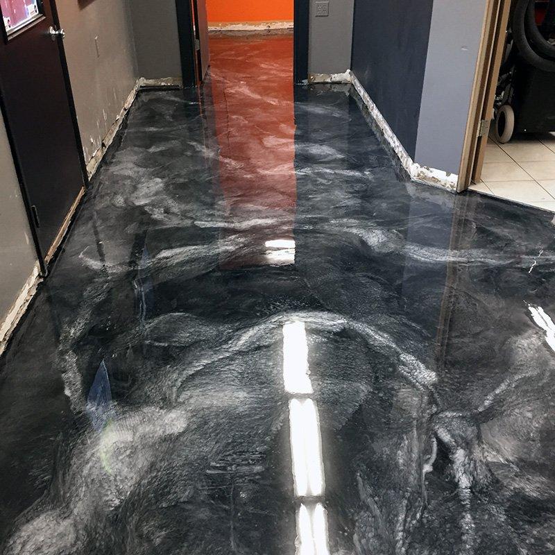 Gloss Platinum Metallic Floor Coating