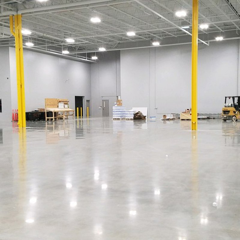 Increase light reflectivity with polished concrete