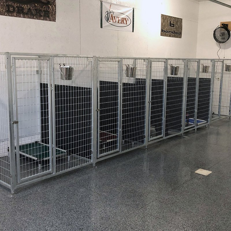 Easy to clean kennels