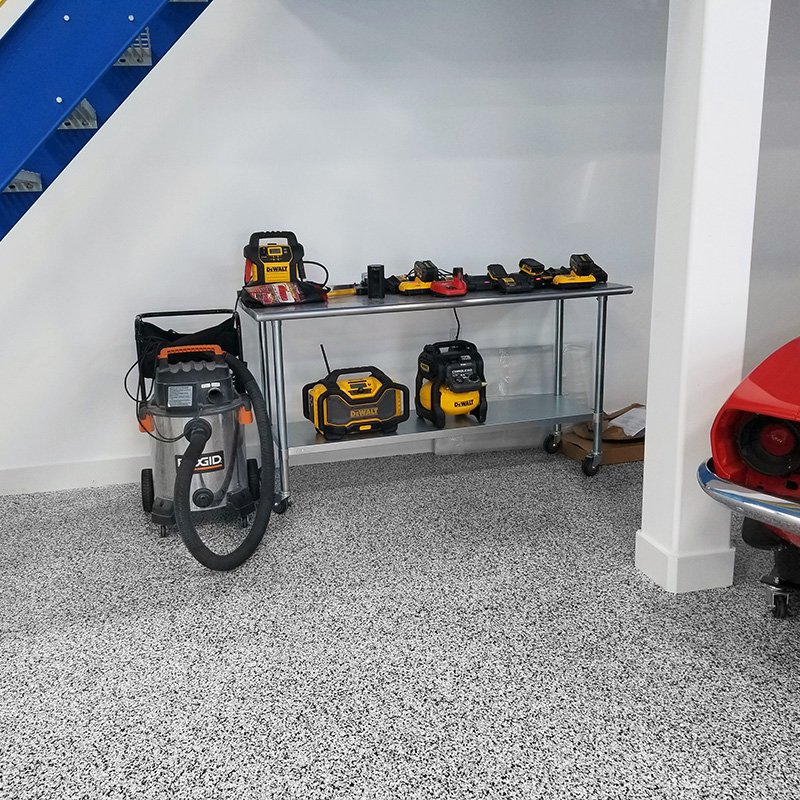 Man cave floor coating