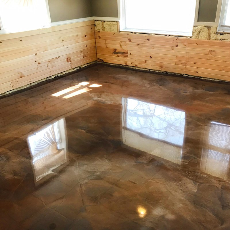 Platinum Epoxy House Floor