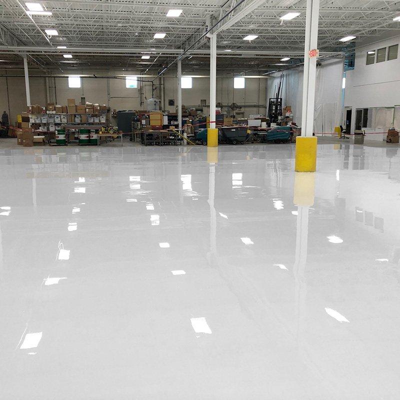 White Floor Coating