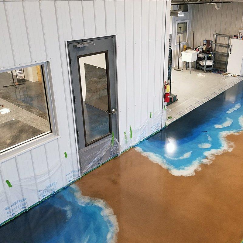 Metallic Epoxy Ocean