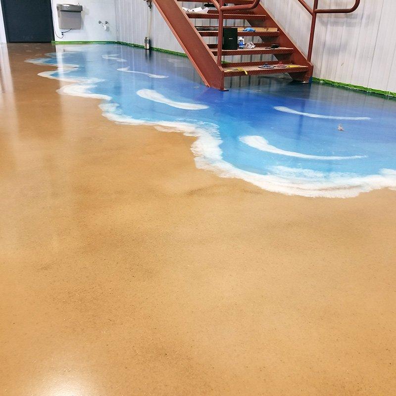 Decorative Concrete Floor Coating