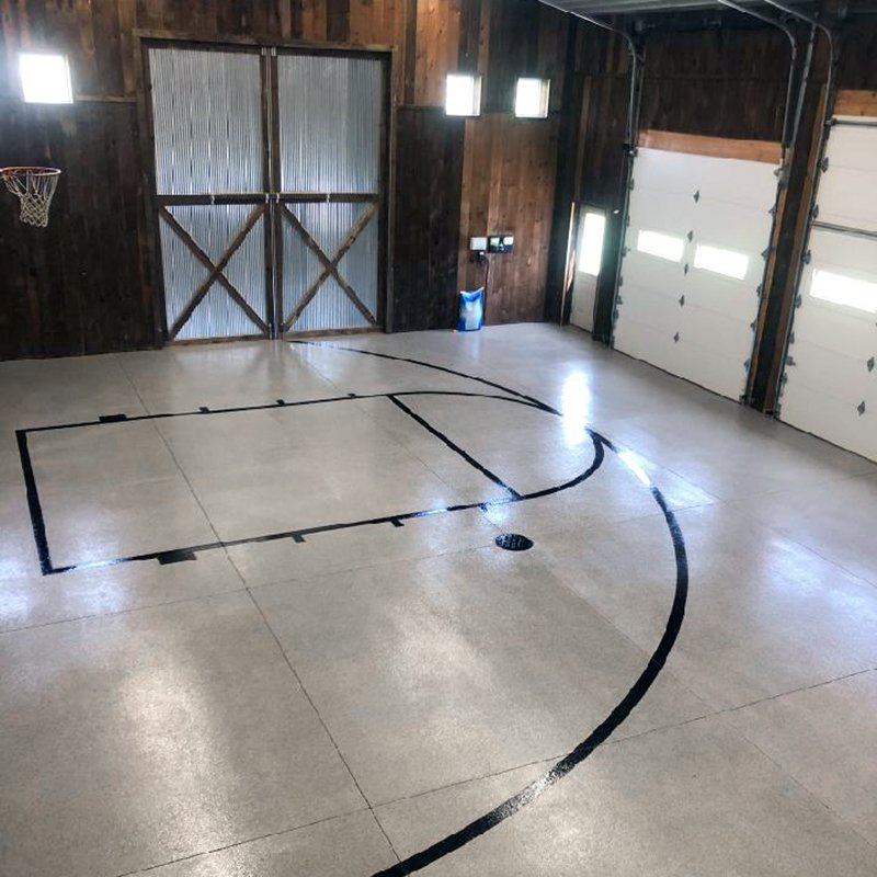 Holland Pole Barn Flooring Basketball Court Project V8 Floor Coating