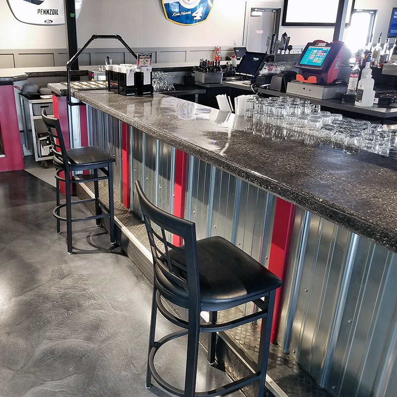 Bar top and epoxy floor coating